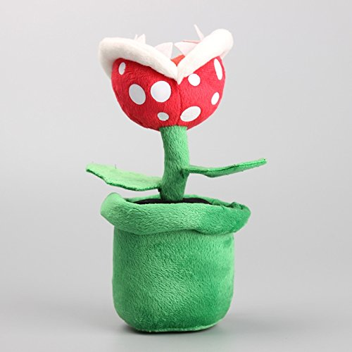 Boufery Cartoon Plush Soft Flower Piranha Plant Plush Toy, Stuffed Dolls, Baby Sleeping Appease Doll, for Kids 8' 20CM