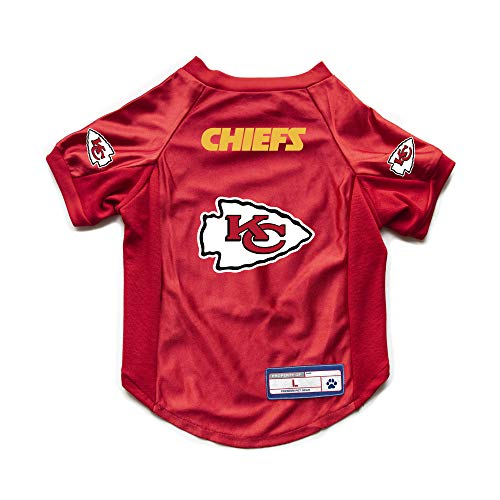 Littlearth NFL Kansas City Chiefs Pet Stretch Jersey, Small (320156-CHIE-S)