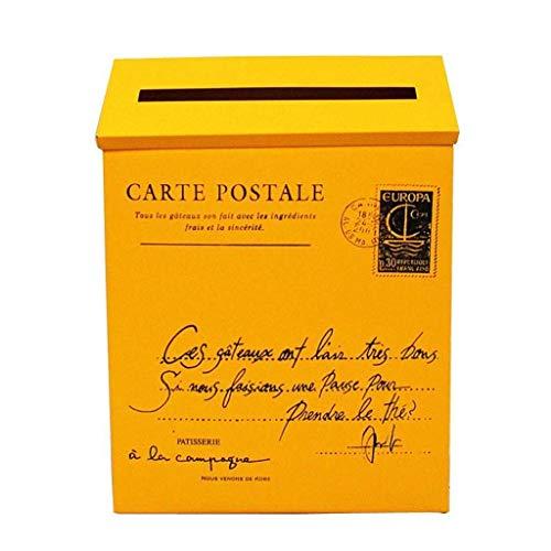 Buzón grande jaula para buzones de correo para puerta buzón de correo, protector para puerta de buzones rurales – 23 x 6 x 30 cm (color...