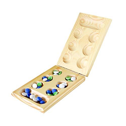 spier Mancala - Juego de mesa plegable con piedras de madera, para 2 jugadores, para fiestas y festivales