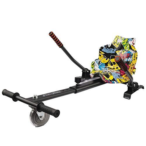 Silla para Hoverboard,Electrico Hover Kart Ajustable para Patinete Eléctrico Asiento Kart Adaptarse...