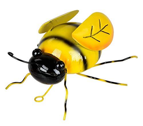 KLP Wanddeko Biene Hummel Wandbild Metall Deko Tier Figur Wandschmuck Wand Hänger