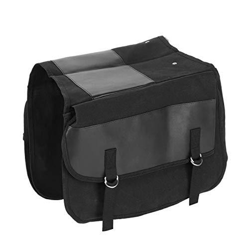 Práctica bolsa lateral resistente al desgaste, resistente para carreras, viajes por carretera, conducción nocturna, vacaciones(black)