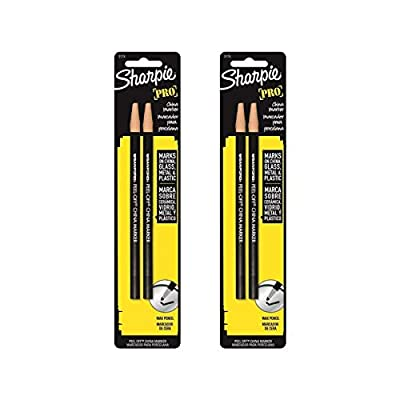 Sharpie 2173PP Peel-Off China Markers, 4 Black Markers
