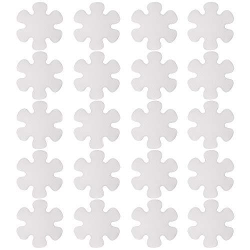 Anti Rutsch Sticker Transparente Rutschfeste Badewannen Aufkleber Wasserdicht Badewannen Aufkleber Selbstklebende Badewanne Sticker Rutschfest für Badewannen Duschen, Schwimmbad Blumen Form (20 Stück)