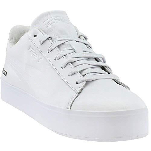 PUMA Mens Court Platform X Black Scale Sneakers Shoes Casual - White - Size 12 D