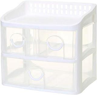 SHANCL Module de Classement Boîte de Rangement tiroir Plastique boîte de Rangement de Bureau fichier Bijoux Multi-Couche A...