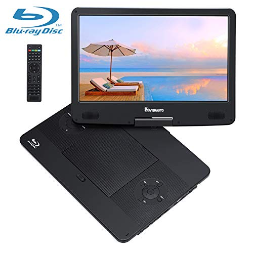 "NAVISKAUTO 14"" Tragbarer DVD Player Blu-ray 1920 * 1080 Full HD 1080P MP4 Portable Monitor HDMI In/Out für PC/Handy/Beamer/Fernseher/TV Stick Drehbarer Bildschirm Akku. 4000mAh Schwarz"