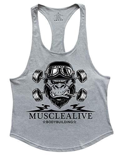 Herren Bodybuilding Tank Tops Hemden Baumwolle Fitness Stringer Sport Shirts Achselshirts