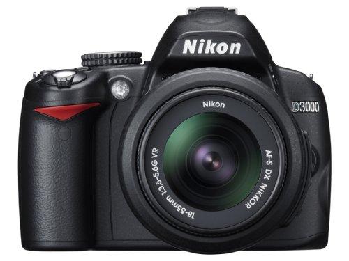 Nikon D3000 VBA250K001 - Cámara Réflex Digital 10.2 MP (Objetivo 18-55 mm VR), Color Negro