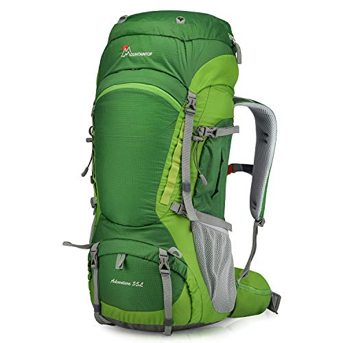 Mountaintop 55L/80L Hiking Backpack with Rain Cover