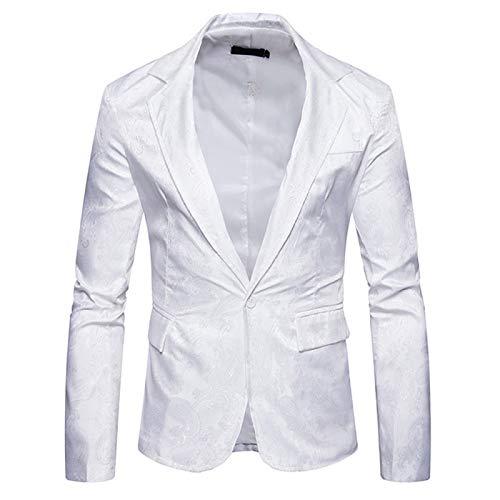 qishi Chaqueta de traje casual de los hombres de la manera Color sólido