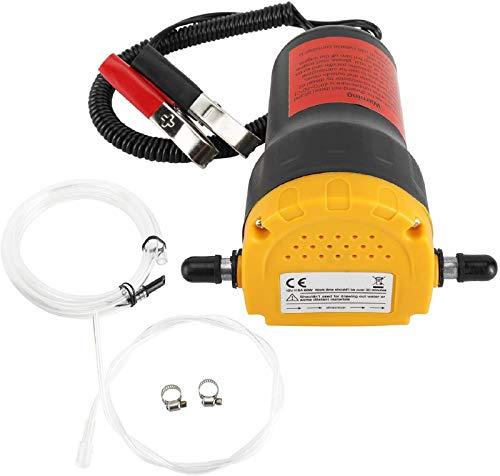 FreeTec 12V 60W Ölabsaugpumpe Dieselpumpe Ölpumpe Kraftstoffpumpe zum Ölwechsel Motoröl Heizöl