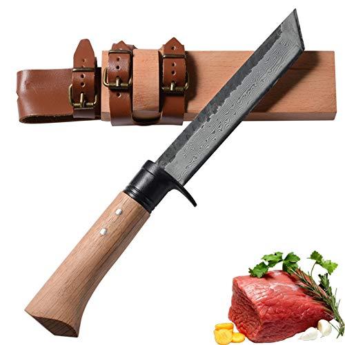 Cuchillo hecho a mano Forjado Chef martillado Cuchillos de cocina Herramientas de camping al aire libre Cuchillo de estilo retro Cuchillos de cocina cuchillos de cocina (Color : A)