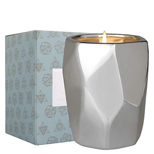 La Jolíe Muse Pinie Birkenholz Duftkerze, natürliche Sojawachs Kerze für den Winter zu Hause, 60-80 Stunden Brennzeit, Keramikbehälter Geschenkkerze, 10oz