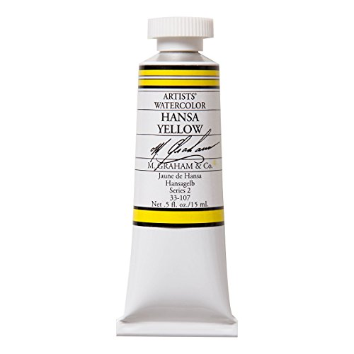 M. Graham 1/2-Ounce Tube Watercolor Paint, Hansa Yellow (33-107)