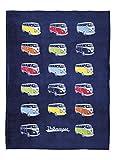 BRISA VW Collection - Volkswagen Furgoneta Hippie Bus T1 Van Manta Grande de Franela Extra Suave...