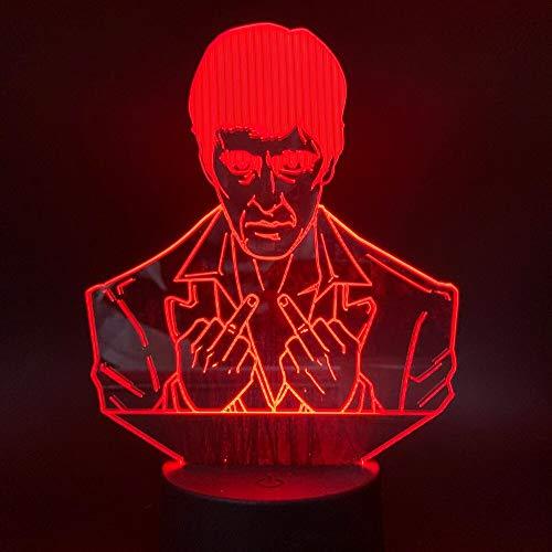 Nur 1 Stück 3D Nachtlicht LED Für Kinderzimmer Nachtlicht Lampe Berührungssensor Nachtlicht 3D Lampe Visuelle Nachtlichter LED Farbwechsel LED