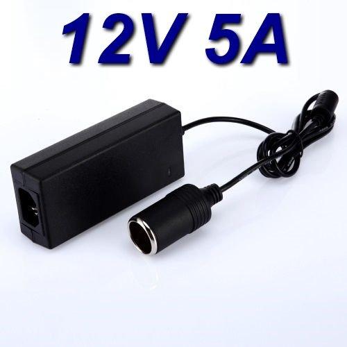 TopChargeur - Adaptador de alimentación, cargador de 12 V 5 A para aspirador de mano Black & Decker PV1200AV PV1200AV-XJ conector: encendedor de cigarrillos