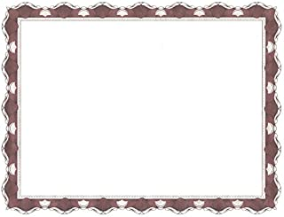 Geographics Parchment Paper Certificates, 8.5 x 11 Inches, Red Crown Border, 50 per Pack (45327)