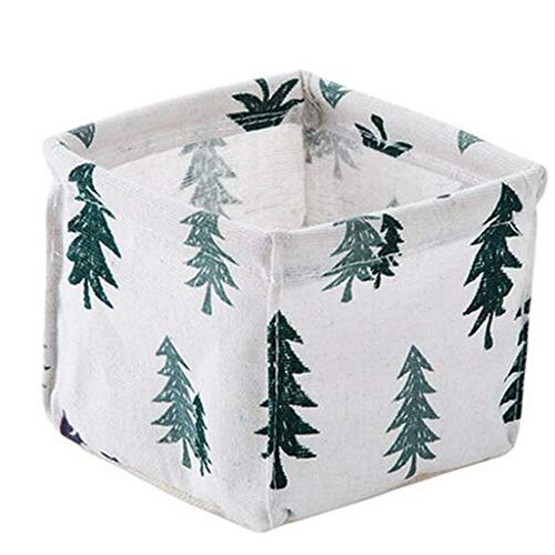 Leileixiao Caja de almacenamiento de escritorio de algodón y lino para escritorio, papelería, cesta de almacenamiento para tocador, caja de acabado de escombros cosméticos (color: B)