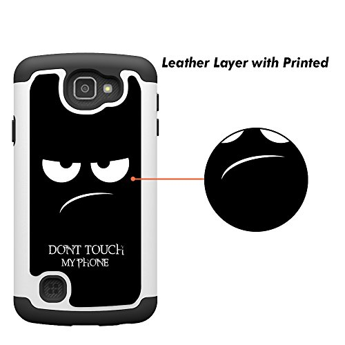 UrSpeedtekLive LG Optimus Zone 3 Case, K4 Case, Spree Case, [Shock Absorption] Dual Hybrid Defender Cover Case for LG K4 LTE/Spree/Optimus Zone 3 / Rebel LTE - Don't Touch