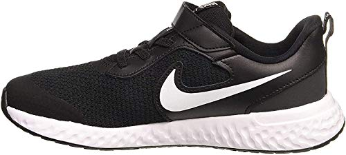 Nike Unisex-Child Revolution 5 (PSV) Running Shoe, Black/White-Anthracite, 30 EU