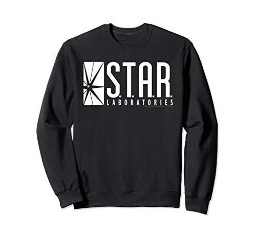DC Comics Flash Star Labs Logo White Sweatshirt