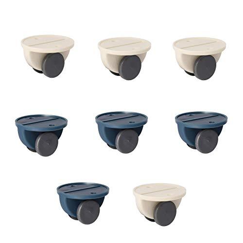 SoundZero 8 pezzi Ruote pivontanti per mobili, ruote girevoli in plastica, ruote girevoli autoadesive, ruote girevoli e mobili facile da installare per scatola di immagazzinaggio Scarpiera DIY