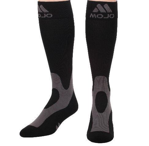 Mojo Coolmax Recovery & Performance Sports Compression Socks (Small, Black) - Triathlete Compression Socks - Unisex...
