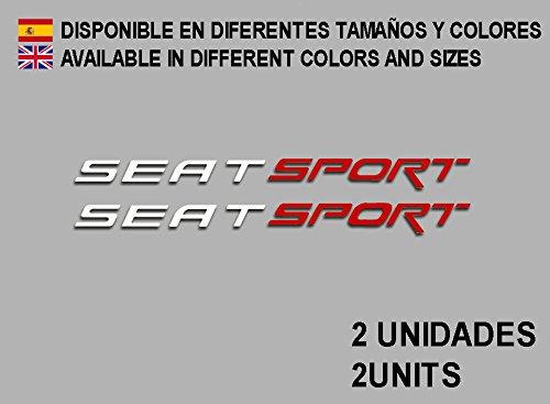 Ecoshirt 7S-CSZX-JM5N Aufkleber für Seat Sport F78 Vinyl Aufkleber Decal Decal Decal Decal Aufkleber Auto Weiß Rot