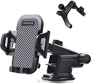 Amaziy- Universal Car Phone Holder Mount, One Release Button, For Air Mount Vent, Windshield and Dashboard, Ultra Stable &...