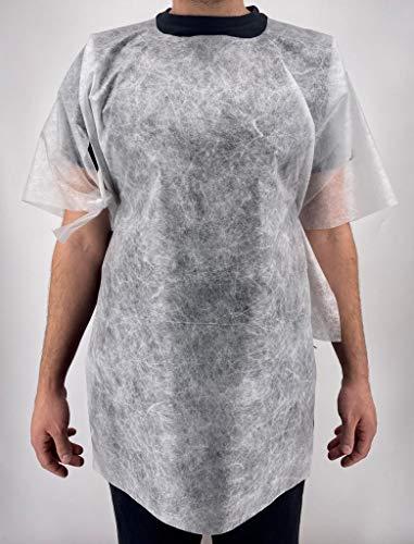 Producto Kimono desechable con cordones – 100% polipropileno para peluquería, esteticistas, 100 unidades