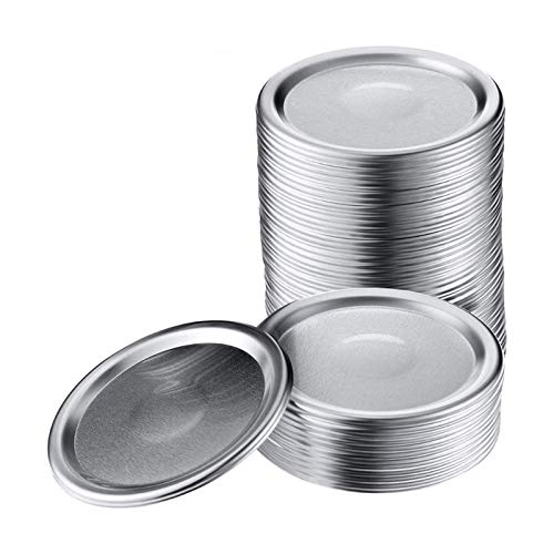Mason Jar Lids, INYOU 30 Pack Regular Mouth Canning Lids Leak proof Airtight Food Storage Can Caps Jar Lids Secure Mason Canning Lids for Ball, Kerr and More Silver Mason Jars Lids