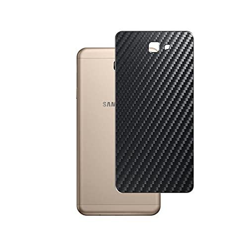 Vaxson 2 Unidades Protector de pantalla Posterior, compatible con Galaxy J7 Prime 2 Samsung, Película Protectora Espalda Skin Cover - Fibra de Carbono Negro