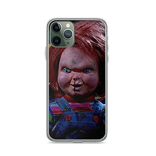 Cajas de teléfono Pure Clear Childs Play 2 - Chucky Compatible con iPhone Samsung Xiaomi Redmi Note 10 Pro/Note 9/8/9A/Poco M3 Pro/Poco X3 Pro Funda Choque de caída