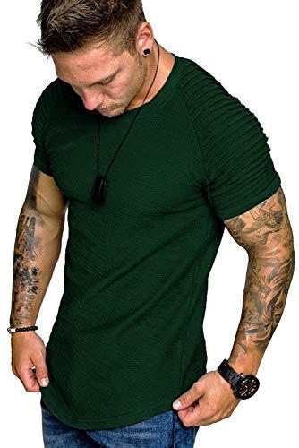 Coshow Fitness T-Shirt Uomo Maniche Corte Asciugatura Rapida Maglia da Sport per Corsa, Palestra