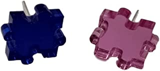 Pendiente de Metacrilato MINI PUZZLE PINK/DARK BLUE