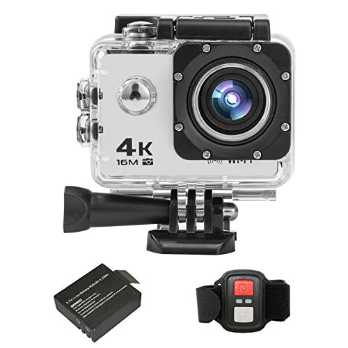 Andoer Action Camera, 4K/30FPS 16MP HD Sports Action Camera 2 Inch Large LCD Display Screen 170 Degree Wide Angle WiFi 2.4G Wireless Remote Control DV Camcorder with Waterproof Case Accessory Kit