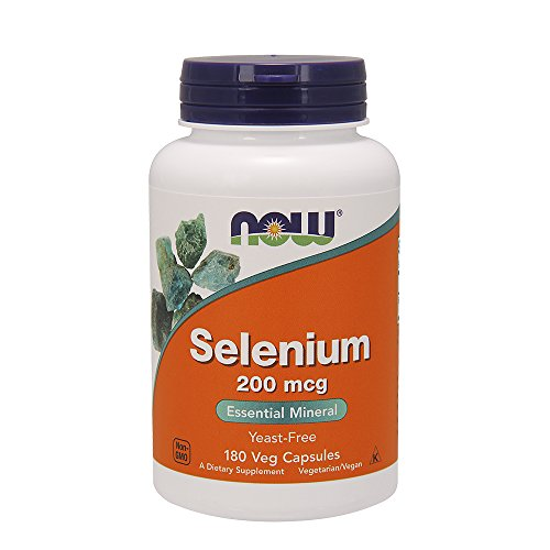 Selênio 200 mcg Now Foods, Marrom, 180 Count (Pack of 1)