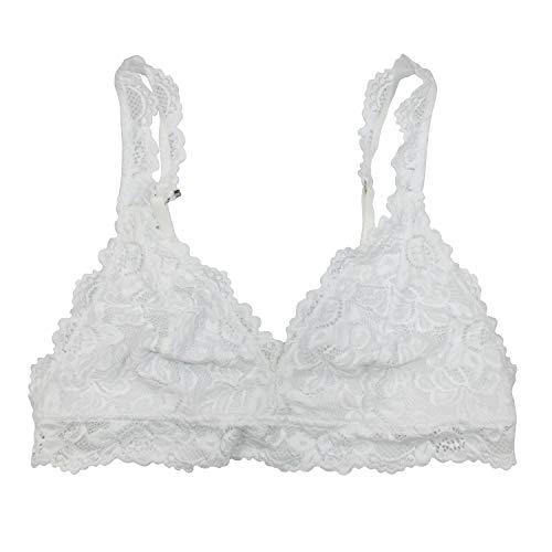 Undie Couture Classic Lace Bralette (White, Medium)