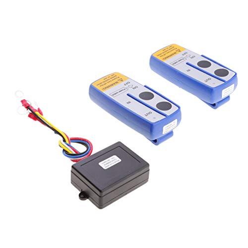 LICHONGUI Recuperación Wireless Winch Dual Remote Control Remoto 12V Controlador de Interruptor de teléfono 98FEET para EL Coche Jeep SUV
