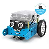 Makeblock mBot Robot Kit for Kids Ages 8+, STEM Education, Entry-Level Programming DIY Mechanical Building Blocks Robot, Suitable for Window/macOS/Linux/Chrome OS(Blue, Bluetooth Dongle, Classroom)