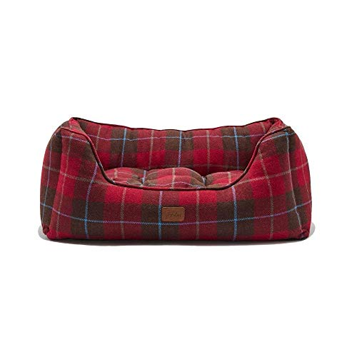Tom Joule Joules Box Dog Bed Large Heritage Tweed