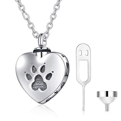 As Ketting Hond Kat Herdenkings Zilveren Hanger Sieraden Voor Crematie As Opslag Voor Altijd in Mijn Hart Blijven