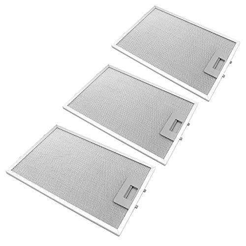 vhbw 3x filtro metálicos de grasa compatible con Siemens LC85950(00), LC85950GB/01, LC85950GB(00), LC94950/01 campana extractora, metal