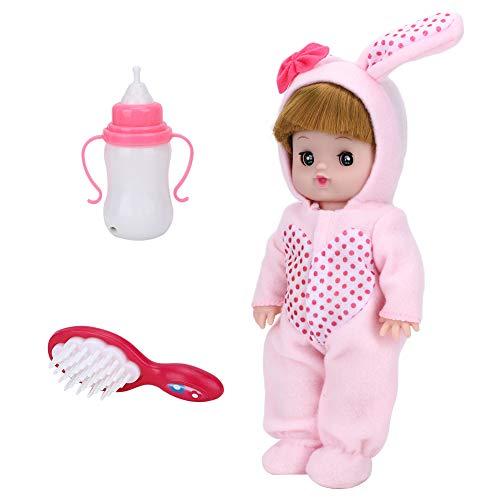 Sound Doll, Cute Doll, Interesante para niños Mayores de 3 años(Pink Bunny)