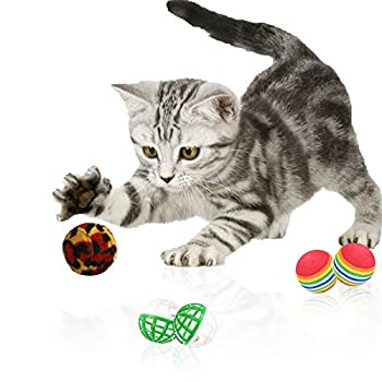 ETHEL Jouets pour Chat,Lot de 20 Jouets pour Chats,Animaux Domestiques Toys Jouet De Boule De Chat Jouet Souris Jouet Plume Jouet Cloche Chat Souris y Balles avec,pour Chat Kitty
