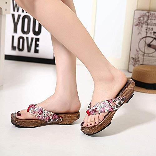 Infradito ergonomiche da donna, zoccoli da donna, ciabatte, infradito sandali-rosa alto 4 cm _37, scarico rapido bagno Mule fangkai77