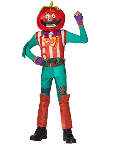 Spirit Halloween Kids TomatoHead Fortnite Costume | Officially Licensed - M